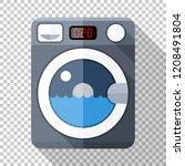 washing machine icon in flat... | Shutterstock .eps vector #1208491804