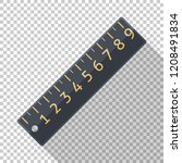 ruler icon in flat style on... | Shutterstock .eps vector #1208491834