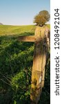 public footpath wooden sign in...   Shutterstock . vector #1208492104