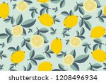 tropical seamless pattern with... | Shutterstock .eps vector #1208496934
