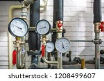 house heating system with many... | Shutterstock . vector #1208499607