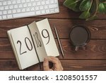 new year 2019 is coming concept.... | Shutterstock . vector #1208501557
