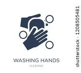 washing hands icon. trendy flat ... | Shutterstock .eps vector #1208505481
