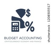 budget accounting icon. trendy... | Shutterstock .eps vector #1208505517