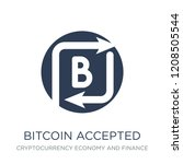 bitcoin accepted icon. trendy... | Shutterstock .eps vector #1208505544
