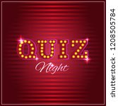 words trivia night made of... | Shutterstock .eps vector #1208505784