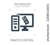 remote control icon. high... | Shutterstock .eps vector #1208512651