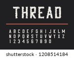 embroidery thread font.... | Shutterstock .eps vector #1208514184