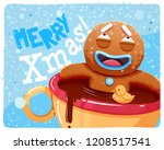 merry christmas greeting cards... | Shutterstock .eps vector #1208517541