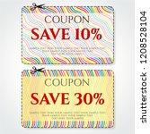 discount coupon  voucher vector.... | Shutterstock .eps vector #1208528104