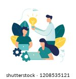 vector illustration  online... | Shutterstock .eps vector #1208535121