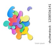 fluid colourful shapes overlap...   Shutterstock .eps vector #1208536141