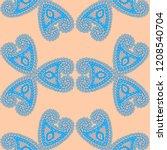 seamless hand drawn pattern...   Shutterstock .eps vector #1208540704