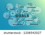 banner goals concept. chart... | Shutterstock .eps vector #1208542027