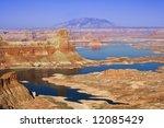 gunsight butte on the utah side ... | Shutterstock . vector #12085429