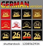 set of number twenty six  26...   Shutterstock .eps vector #1208562934