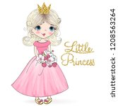 hand drawn beautiful cute... | Shutterstock .eps vector #1208563264