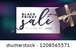 black friday sale banner.... | Shutterstock .eps vector #1208565571