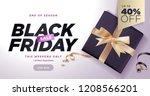 black friday sale banner.... | Shutterstock .eps vector #1208566201
