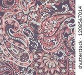 paisley pattern. seamless asian ... | Shutterstock . vector #1208567014