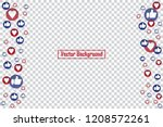 social nets blue thumb up like... | Shutterstock .eps vector #1208572261