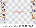 social nets blue thumb up like... | Shutterstock .eps vector #1208572267