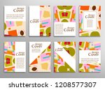 set of a4 cover  abstract...   Shutterstock .eps vector #1208577307