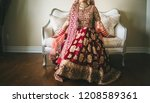 indian pakistani  bridal... | Shutterstock . vector #1208589361