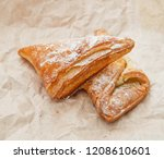 sweet baking product on craft... | Shutterstock . vector #1208610601