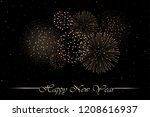 firework show on black night... | Shutterstock .eps vector #1208616937