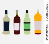 alcohol bottle set | Shutterstock .eps vector #1208623537