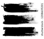 vector set of grunge brush... | Shutterstock .eps vector #1208635201