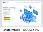online banking  money transfer  ... | Shutterstock .eps vector #1208635447