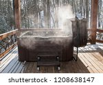 Steaming Hot Tub On Deck With...