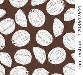 coconut seamless pattern  vector | Shutterstock .eps vector #1208642644