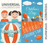 universal children day banner... | Shutterstock .eps vector #1208650261