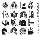 pneumonia icon set. simple set... | Shutterstock .eps vector #1208650267