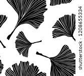 ginkgo biloba plant seamless... | Shutterstock .eps vector #1208655334