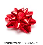 gift dark red bow on a white... | Shutterstock . vector #120866071