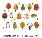 scandinavian autumn trees   Shutterstock .eps vector #1208662321