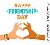 friendship day concept... | Shutterstock .eps vector #1208669947
