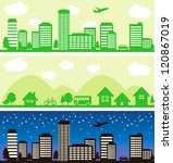 town and city background   Shutterstock .eps vector #120867019