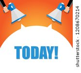 today is the day announcement....   Shutterstock .eps vector #1208670214