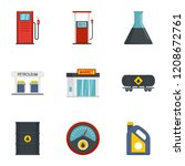 petrol fuel icon set. flat set... | Shutterstock .eps vector #1208672761