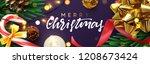 christmas banner  xmas festive... | Shutterstock .eps vector #1208673424