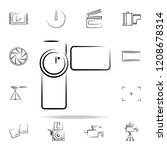 manual video camera outine icon.... | Shutterstock .eps vector #1208678314