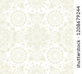 seamless ornamental vector... | Shutterstock .eps vector #1208679244