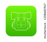 backpack icon green vector... | Shutterstock .eps vector #1208682967