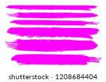 collection of hand drawn pink... | Shutterstock .eps vector #1208684404