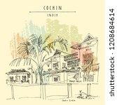 cochin  kochi   kerala  south... | Shutterstock .eps vector #1208684614